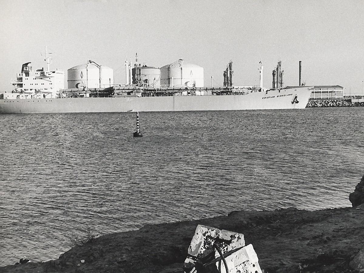 El metaner 'Christian Birkeland' atracat a la terminal de gas natural del port de Barcelona / Arxiu Autoritat Portuària de Barcelona (Autor: Desconegut)