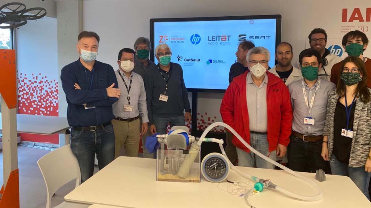 La alianza de la Zona Franca de Barcelona logra un respirador con impresión 3D