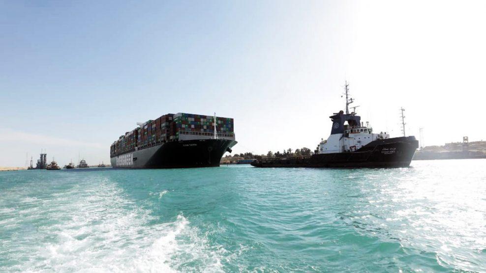 El Canal de Suez recupera el tráfico marítimo tras fondear el 'Ever Given'  para su inspección – El Mercantil